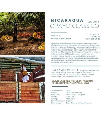 Chocolat 71% du Nicaragua coopérative O'Payo